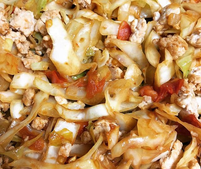 fat free moo shu chicken  weak for bread